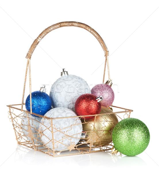 Colorful christmas baubles Stock photo © karandaev
