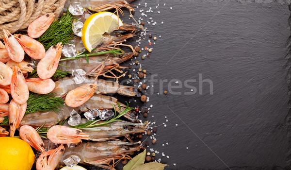 świeże przyprawy czarny kamień górę Zdjęcia stock © karandaev