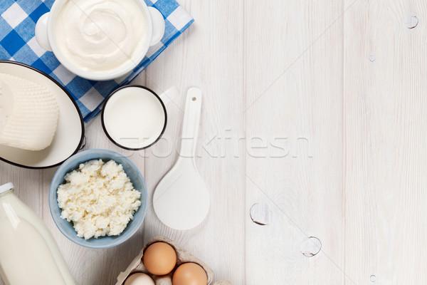 サワークリーム ミルク チーズ 卵 ヨーグルト 乳製品 ストックフォト © karandaev