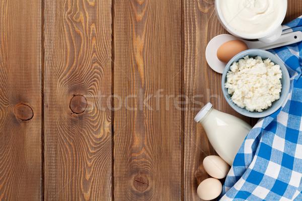 Foto stock: Nata · leite · queijo · ovos · iogurte · manteiga