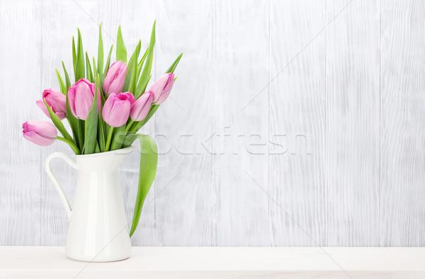 Сток-фото: свежие · розовый · Tulip · цветы · букет · шельфа