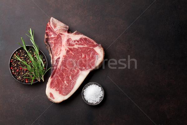 Biftek pişirme taş tablo üst Stok fotoğraf © karandaev