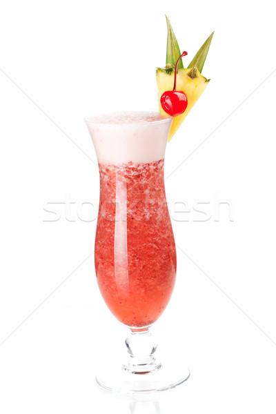 Cocktail collection: Strawberry Pina Colada Stock photo © karandaev
