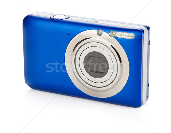 Blue compact camera Stock photo © karandaev
