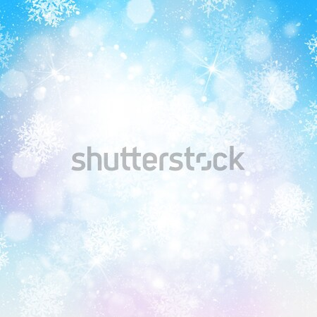 Soyut Noel bokeh kar taneleri kar sanat Stok fotoğraf © karandaev