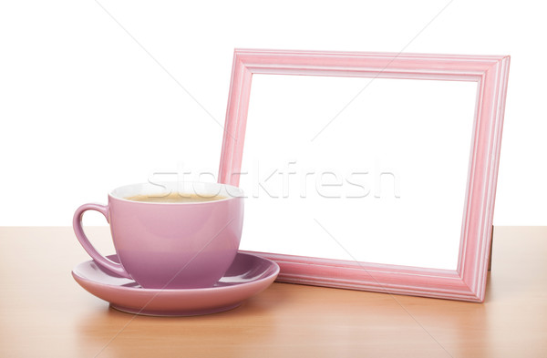 Photo frame and coffee cup Stock photo © karandaev