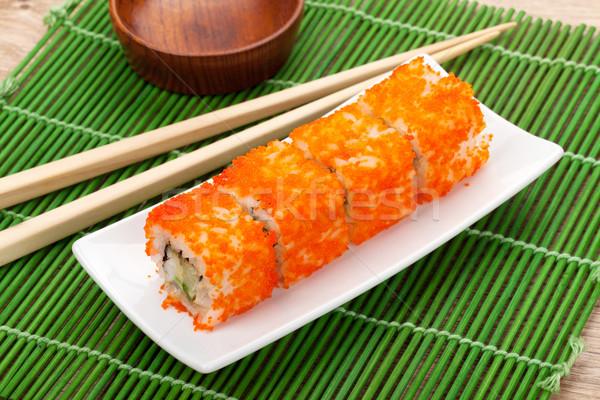 Sushi maki with tobiko Stock photo © karandaev