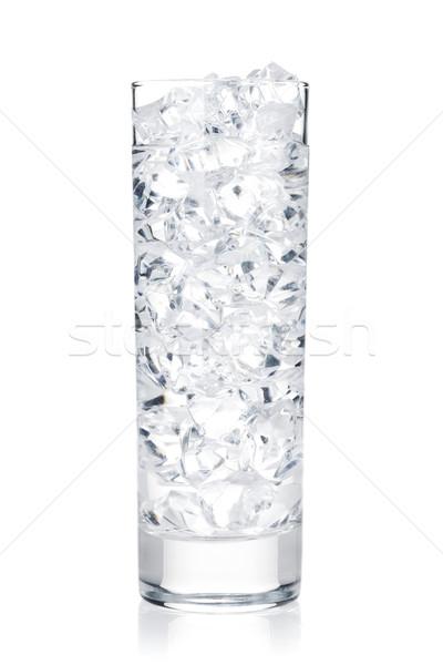 ガラス 水 氷 孤立した 白 背景 ストックフォト © karandaev