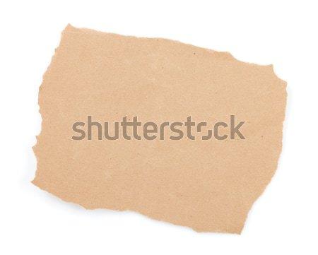грубая оберточная бумага лист изолированный белый дизайна фон Сток-фото © karandaev
