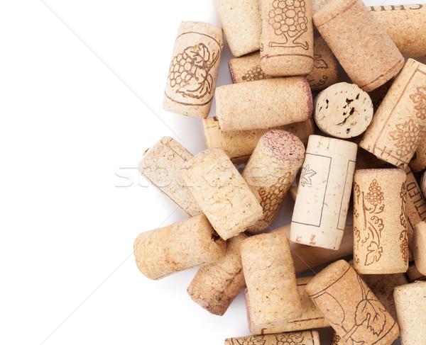 Сток-фото: вино · куча · изолированный · белый · фон · группа