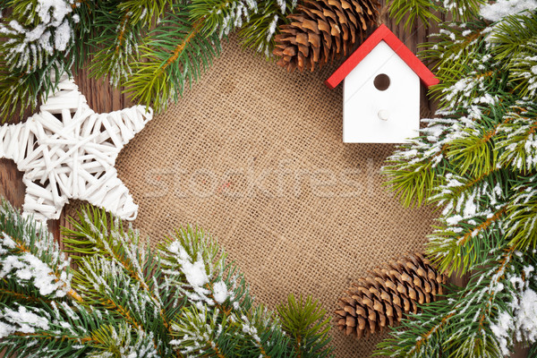 Noël neige espace de copie fond Photo stock © karandaev
