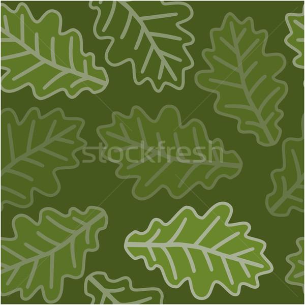 Senza soluzione di continuità rovere foglie pattern albero moda Foto d'archivio © karandaev