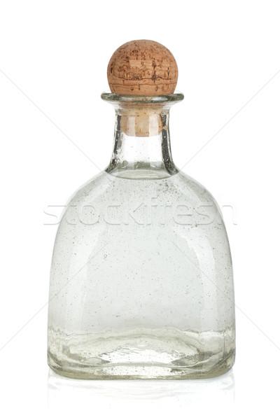 Stockfoto: Fles · zilver · tequila · geïsoleerd · witte · voedsel