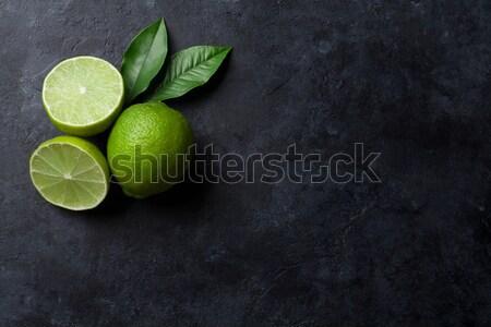 Fresh limes Stock photo © karandaev