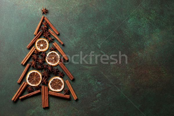 Anyż cynamonu przyprawy choinka górę Zdjęcia stock © karandaev