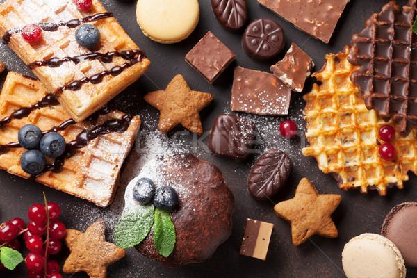 お菓子 石 表 先頭 表示 ストックフォト © karandaev