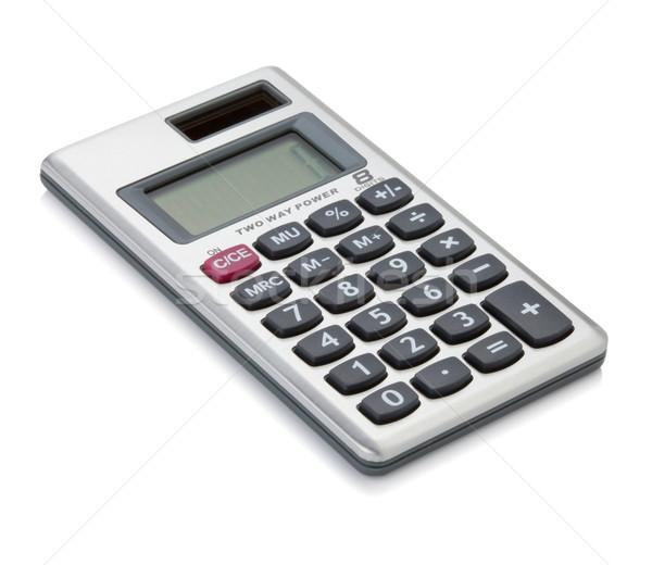 Kicsi digitális számológép izolált fehér pénz Stock fotó © karandaev