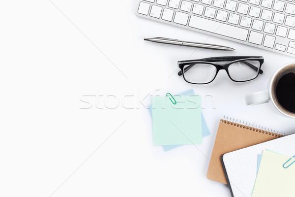 Beyaz bilgisayar üst görmek Stok fotoğraf © karandaev