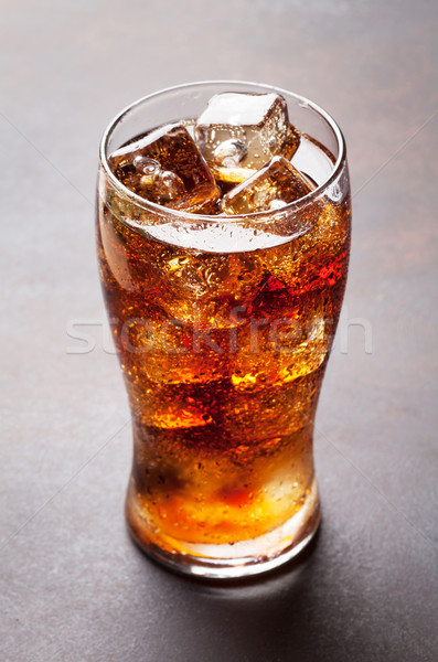 Cola with ice Stock photo © karandaev