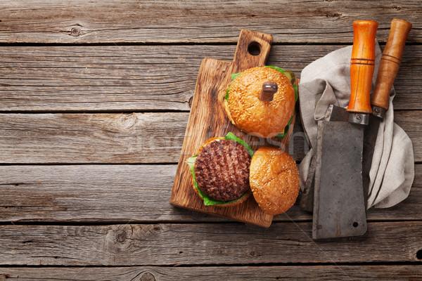 вкусный гриль говядины томатный сыра Сток-фото © karandaev