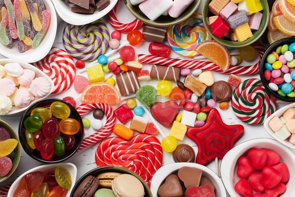 Renkli şekerleme üst görmek Stok fotoğraf © karandaev