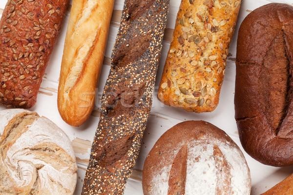 Various crusty bread and buns Stock photo © karandaev