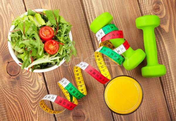 рулетка здоровое питание фитнес здоровья деревянный стол Сток-фото © karandaev