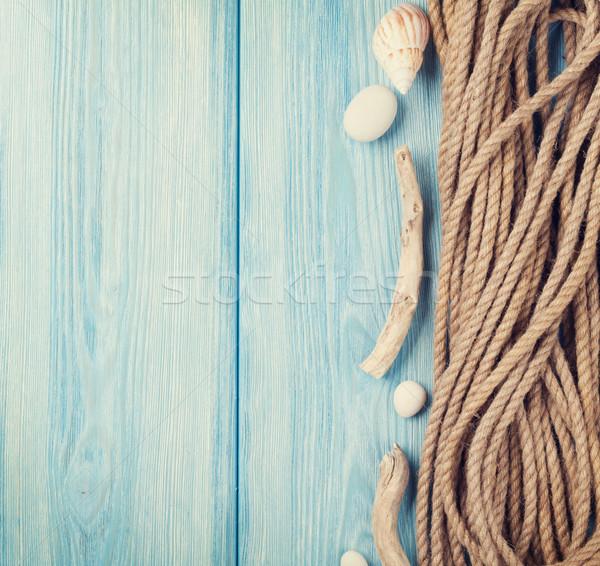 морем отпуск морской веревку лет время Сток-фото © karandaev