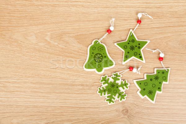 Рождества копия пространства текстуры древесины Сток-фото © karandaev