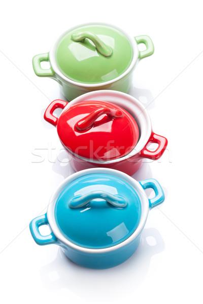 красочный изолированный белый продовольствие домой кухне Сток-фото © karandaev