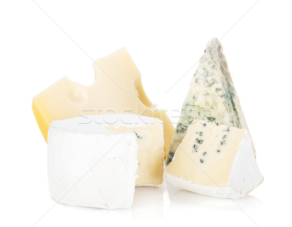 Various types of cheeses Stock photo © karandaev