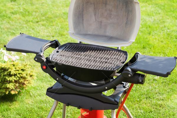 Stock fotó: Barbecue · grill · szabadtér · kert · természet · háttér · zöld