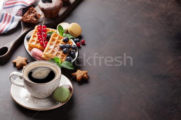 Koffie snoep bessen exemplaar ruimte voedsel Stockfoto © karandaev