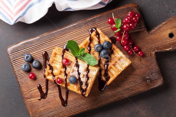 Bessen top voedsel chocolade Stockfoto © karandaev