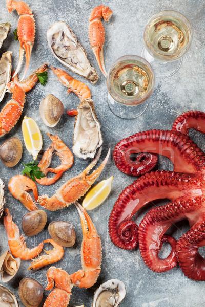 морепродуктов вино осьминога омаров приготовления Сток-фото © karandaev