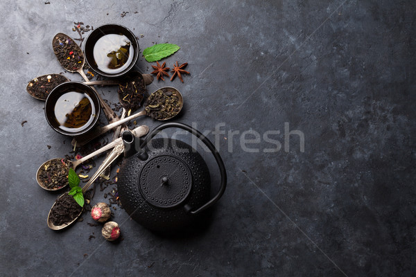 Asciugare tè pot teiera Foto d'archivio © karandaev