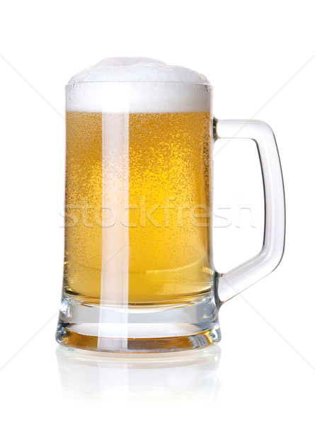 Cold lager beer Stock photo © karandaev