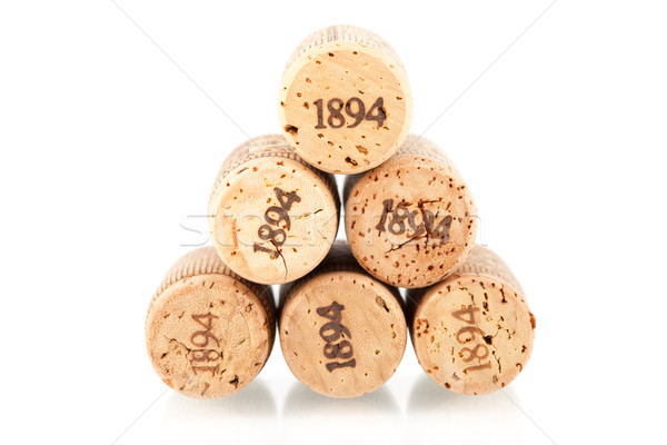 Six champagne corks Stock photo © karandaev