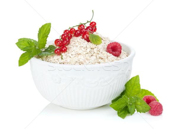 Fresh oat flakes with berries Stock photo © karandaev