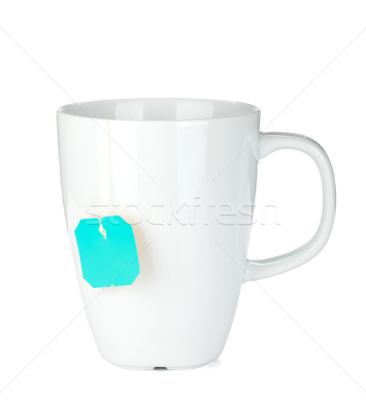 White tea cup with teabag Stock photo © karandaev
