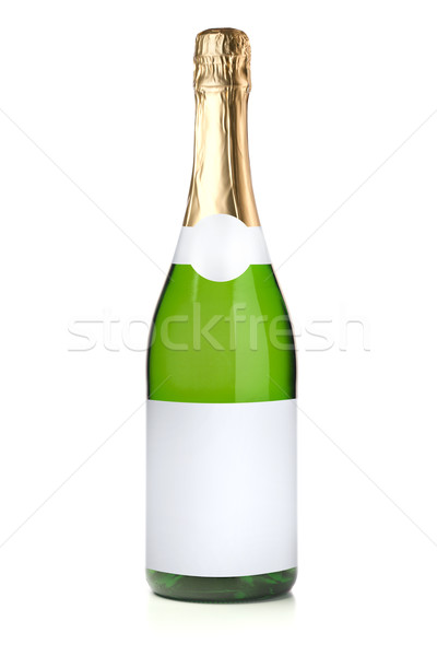 Green champagne bottle Stock photo © karandaev