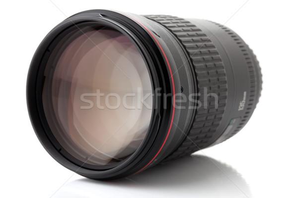 Zawodowych Fotografia obiektyw odizolowany biały film Zdjęcia stock © karandaev