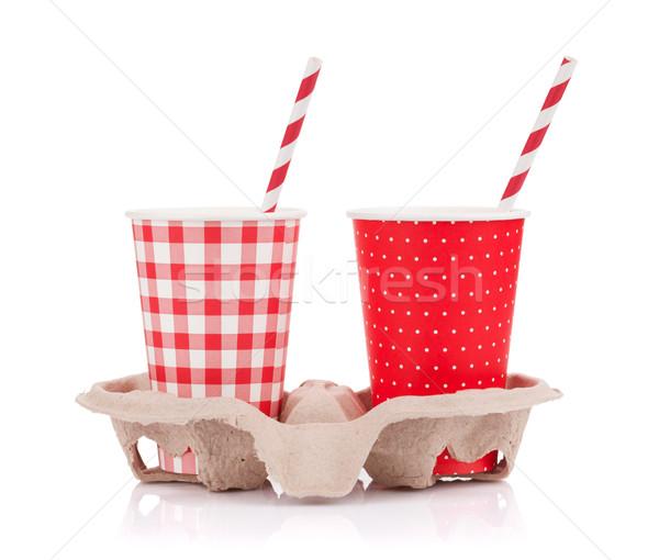 Two paper cups Stock photo © karandaev