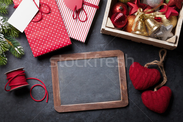 Chalkboard for your xmas text Stock photo © karandaev