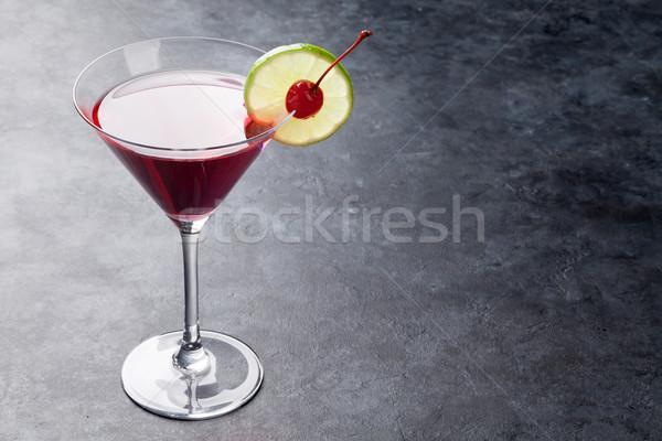Stockfoto: Kosmopolitisch · cocktail · donkere · steen · tabel · ruimte