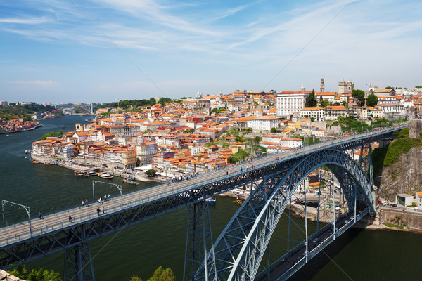 Dom Luis Bridge and old Porto Stock photo © karandaev