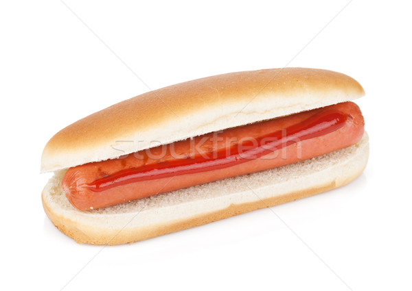Hot dog with ketchup Stock photo © karandaev
