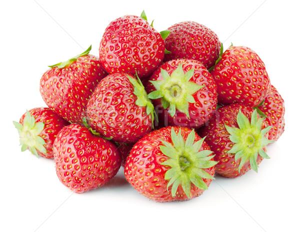 Strawberry fruits heap Stock photo © karandaev