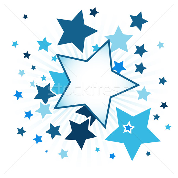 Abstract background with stars Stock photo © karandaev