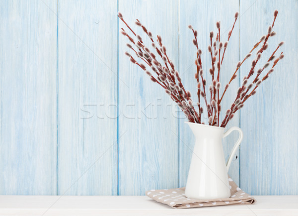 Pussy willow branches bouquet Stock photo © karandaev